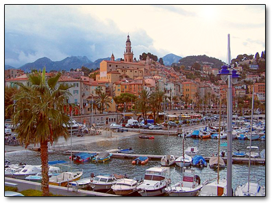 Holiday in Menton, France
